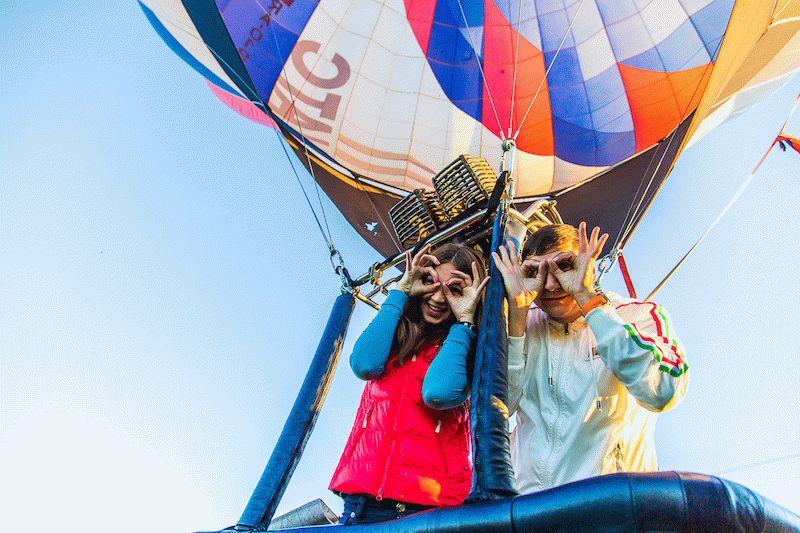 полет на воздушном шаре - лучший подарок на 14 февраля
