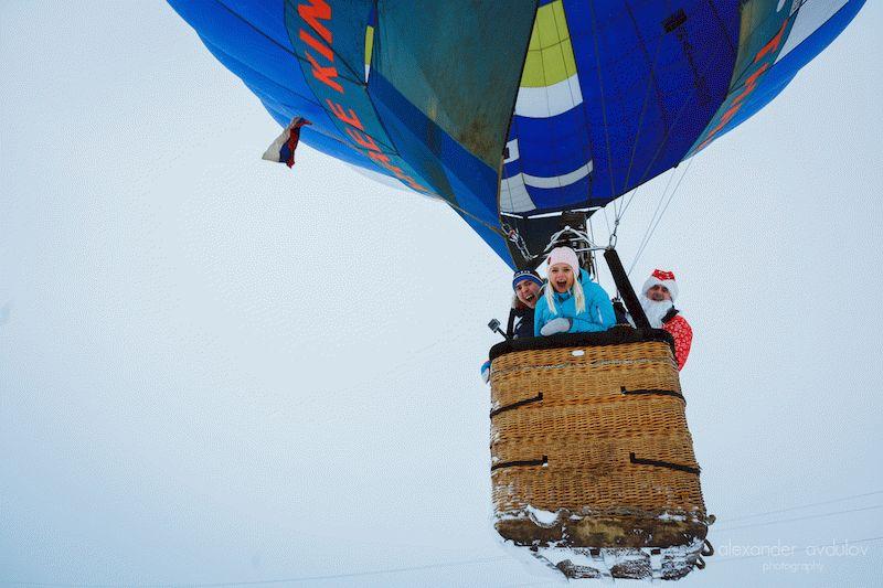 полет на шаре на праздник