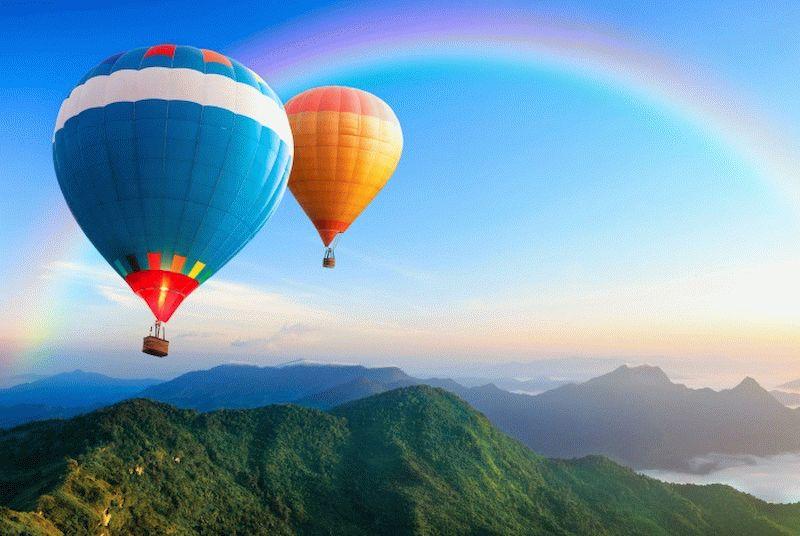 полет на воздушном шаре в подарок на день рождения