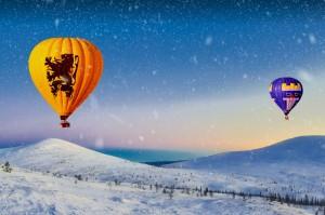Зимний полёт на воздушном шаре в Екатеринбурге